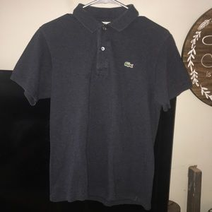 Lacoste polo charcoal grey. Size 3 Small